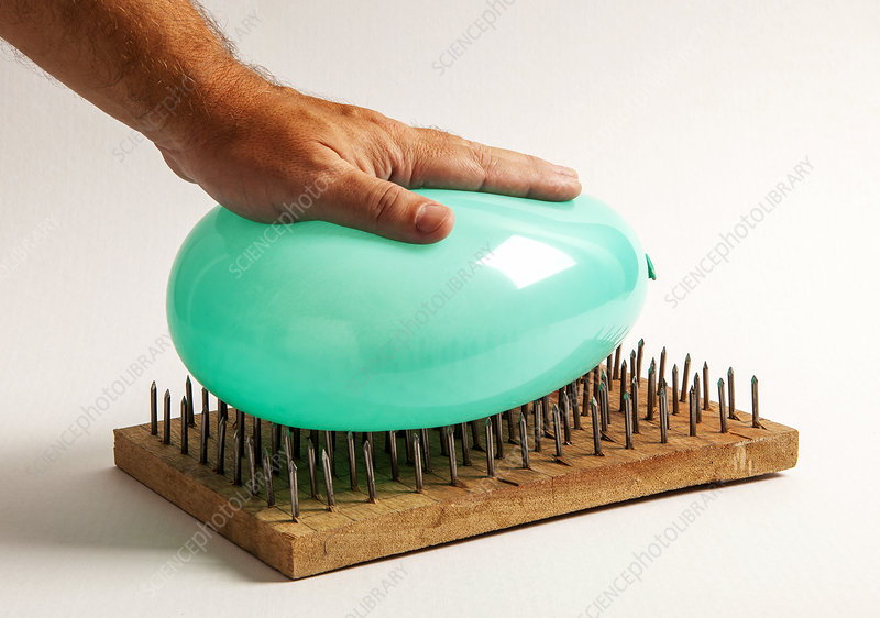 Balloon on Bed of Nails