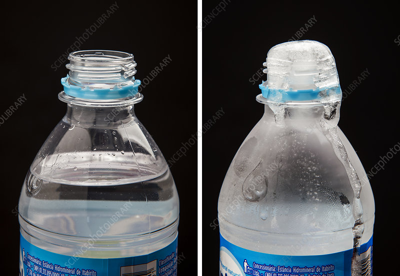 Liquid and Frozen Water in a Bottle