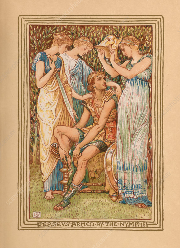 Perseus Armed by the Nymphs