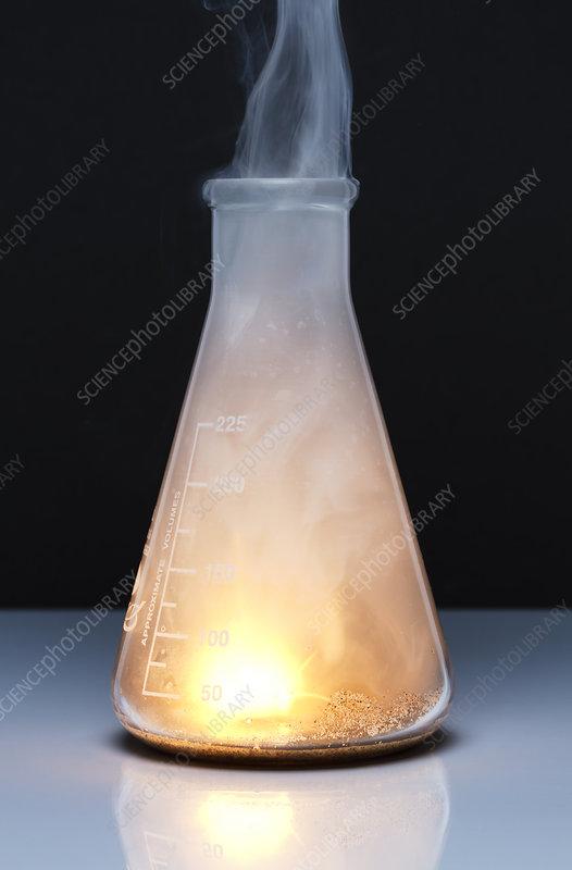 Sodium burns in chlorine, 2 of 3
