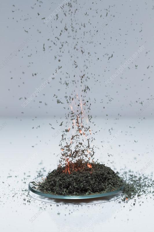 Ammonium dichromate volcano, 3 of 5