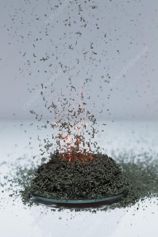 Ammonium dichromate volcano, 4 of 5
