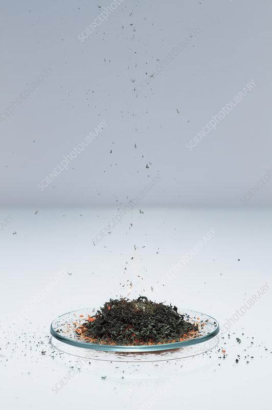 Ammonium dichromate volcano, 2 of 5