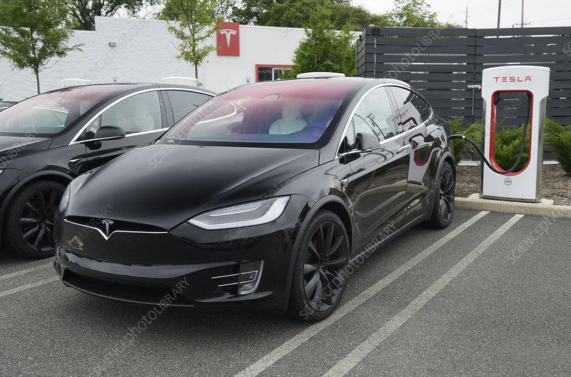 Tesla Model-X charging