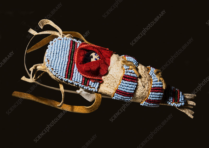 Toy Cradleboard with Doll, Plains Indian