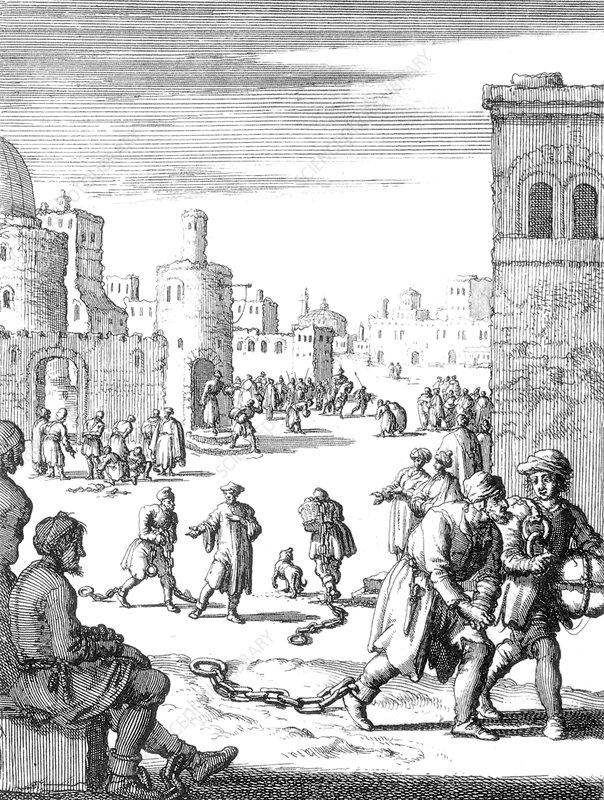 Barbary Slave Trade, 1624 - Stock Image - C043/9180 ...