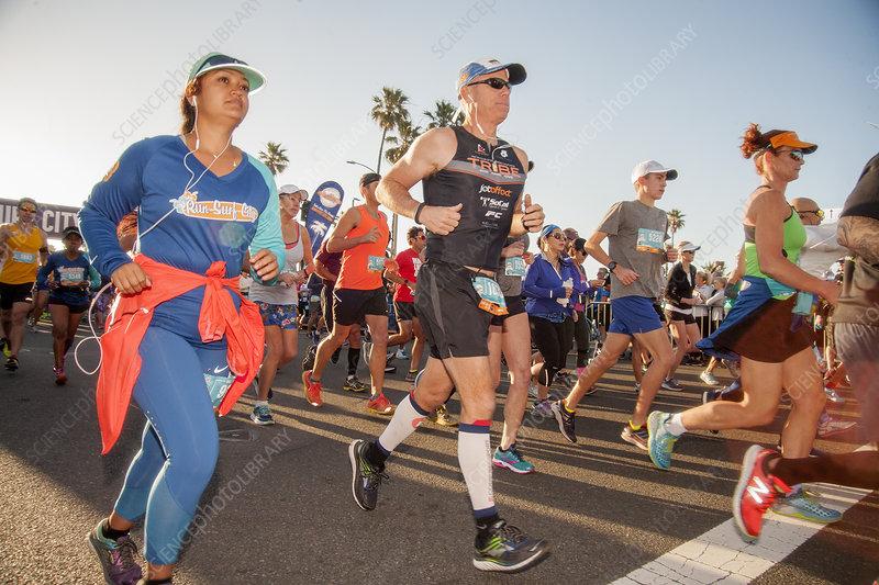 Surf City Marathon runners