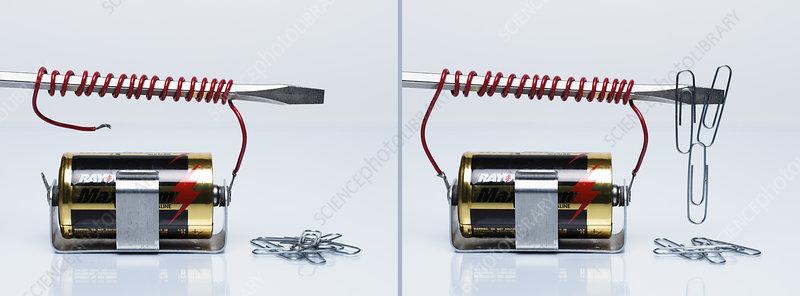 Electromagnet demonstration