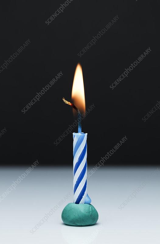 Candle burning, 3 of 5