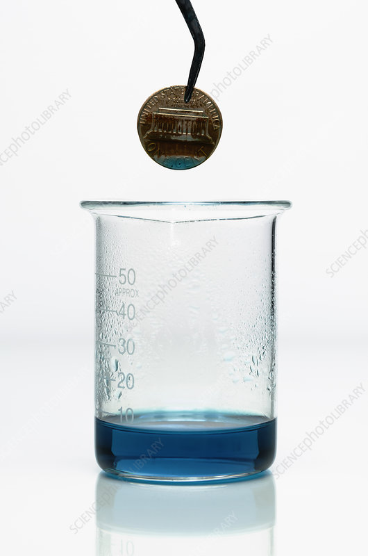 Copper reacts with nitric acid, 3 of 3