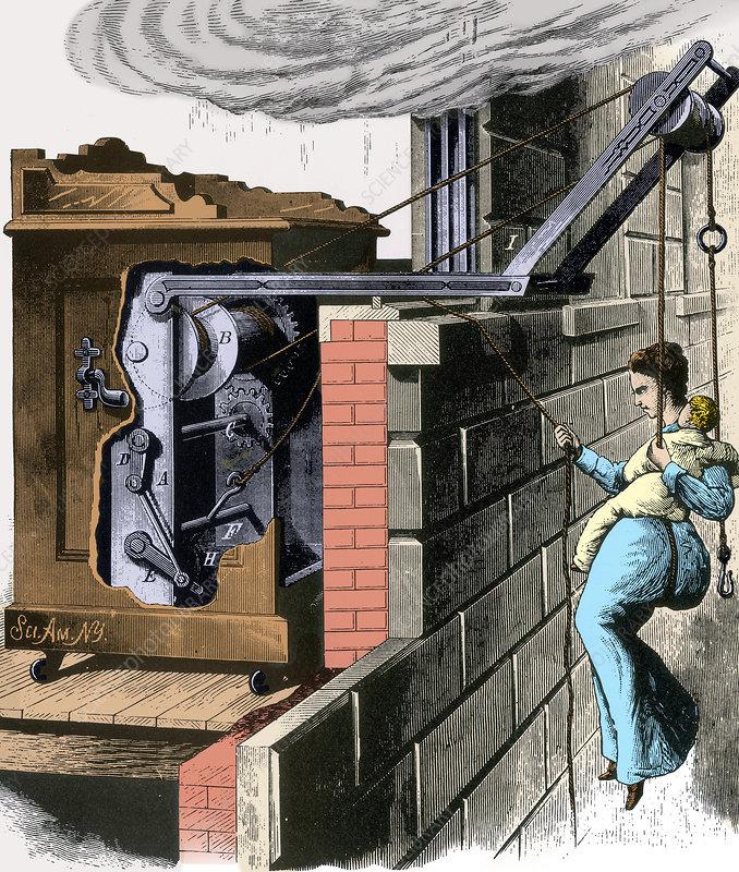 Lescale's Automatic Fire Escape, 1878