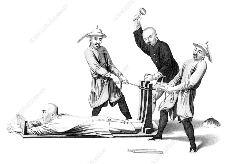 Imperial China Torture, The Rack, 1845