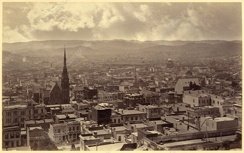 San Francisco Panorama Part, Muybridge, 1877