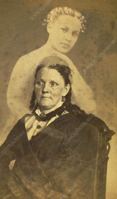 Woman Embraced by Ghost, c. 1862