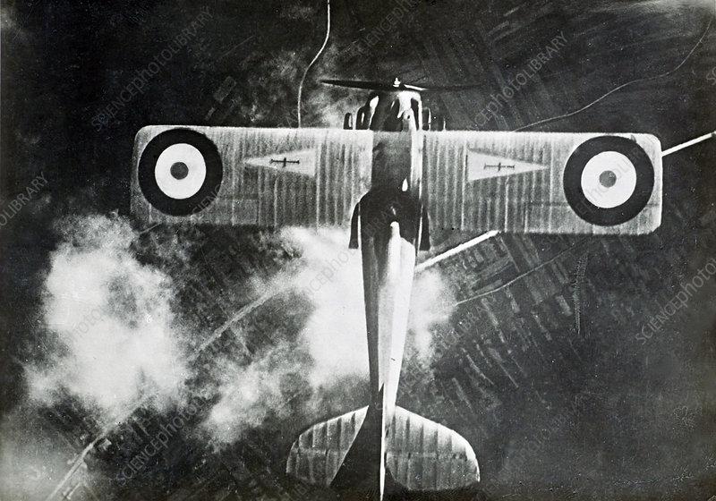 Aerial of Airplane, World War 1