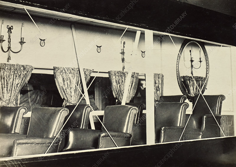 View Inside Blimp's Gondola, c. 1918