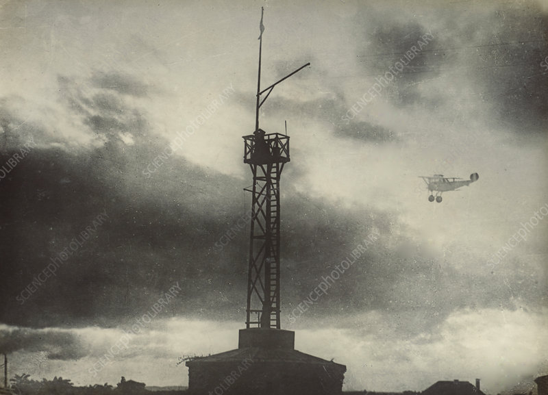 Airplane and Signal Tower, World War 1