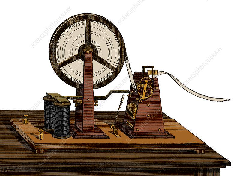 Morse Telegraph, Signal Receiver, 19th Century