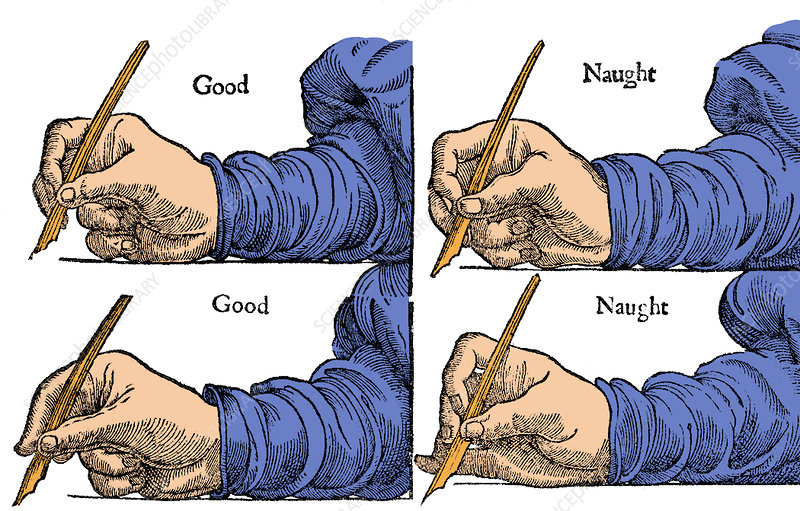 How to Hold Your Pen, 1611