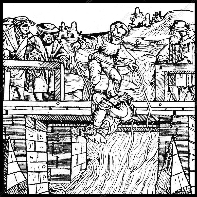 Medieval Execution by Drowning, 16th Century