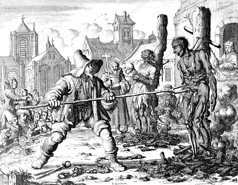 Inquisition, Anabaptists Burned at Stake, 1554