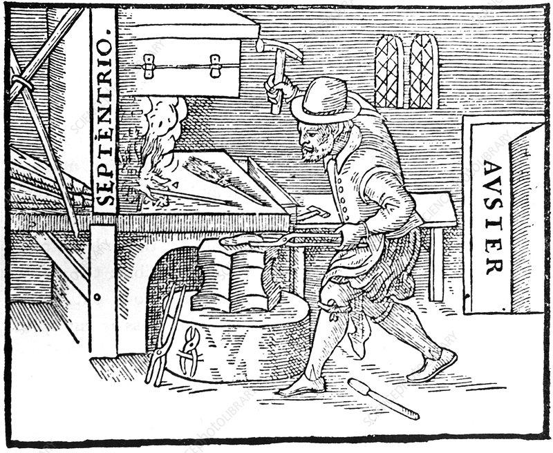 Forging a magnet, 1600