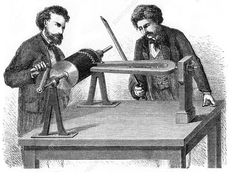 Mid-19th century Phonautograph, 1872