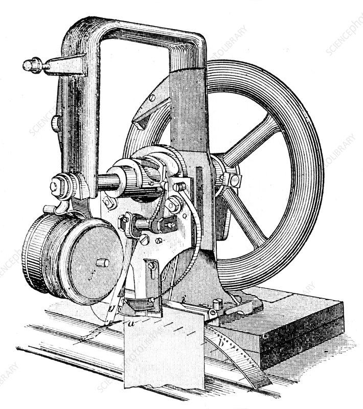 First lockstitch sewing machine, c19th century