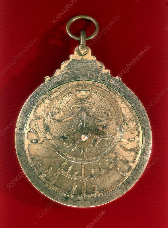 Astrolabe, Arabian navigational instrument, 11th century