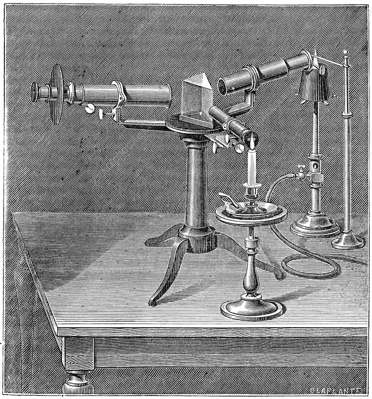 Spectroscopic apparatus used by Bunsen and Kirchhoff, c1895