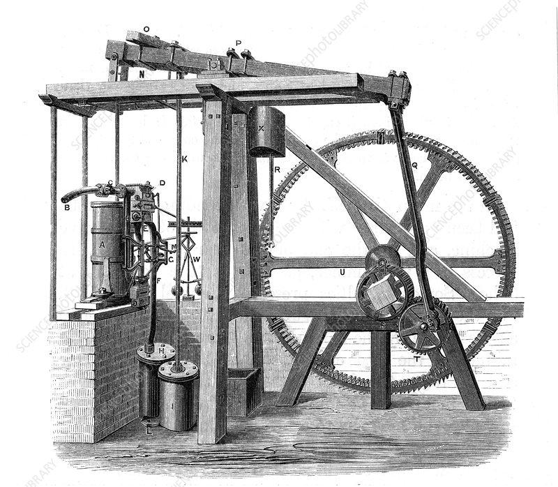 James Watt's prototype steam engine 'Old Bess', c1778