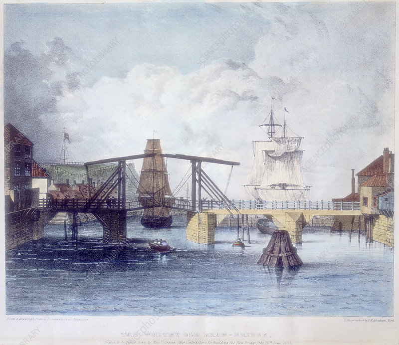 Whitby harbour, Yorkshire, c1833