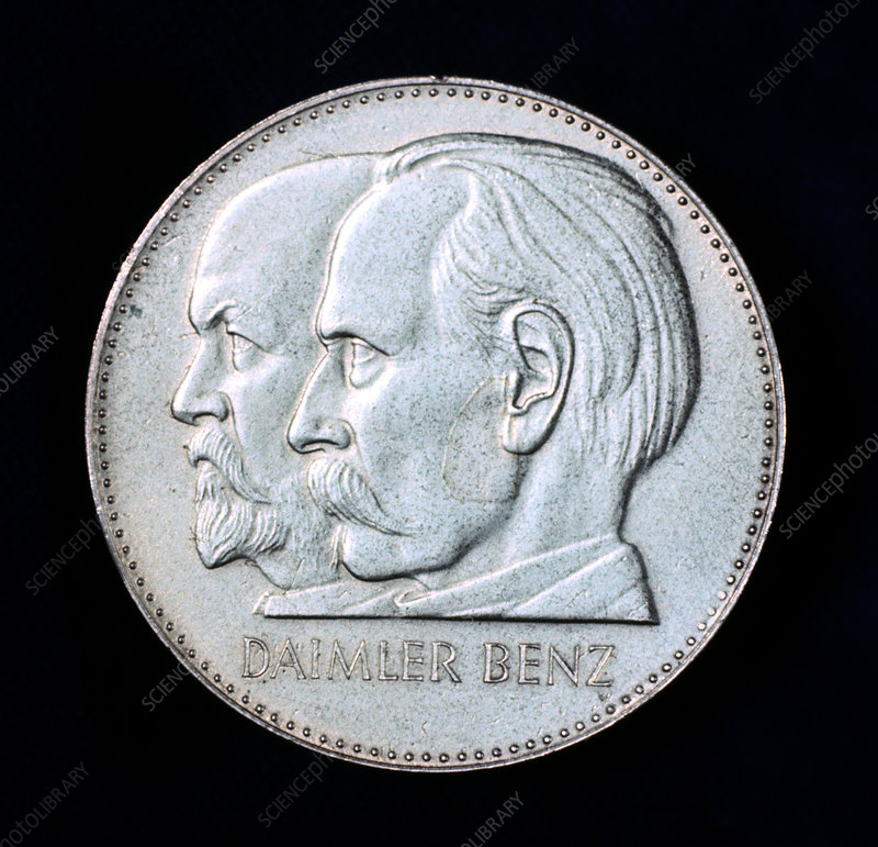 Gottlieb Daimler and Karl Benz, motor industry pioneers