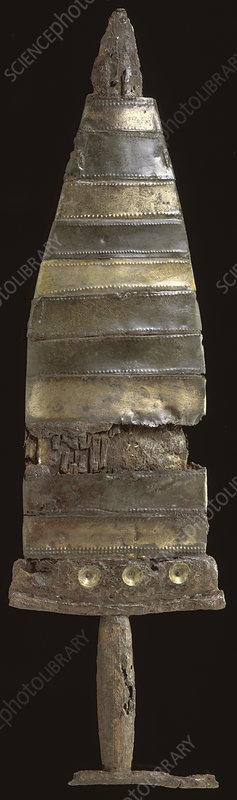 Prehistoric dagger and scabbard, c550-c450 BC