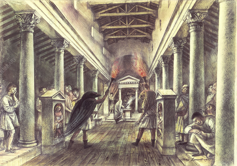 Interior of the Temple of Mithras