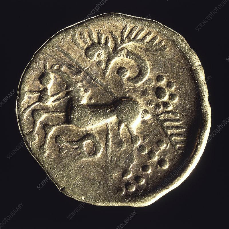 Prehistoric gold coin