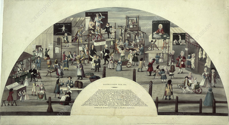 A scene of Bartholomew Fair, 18th century