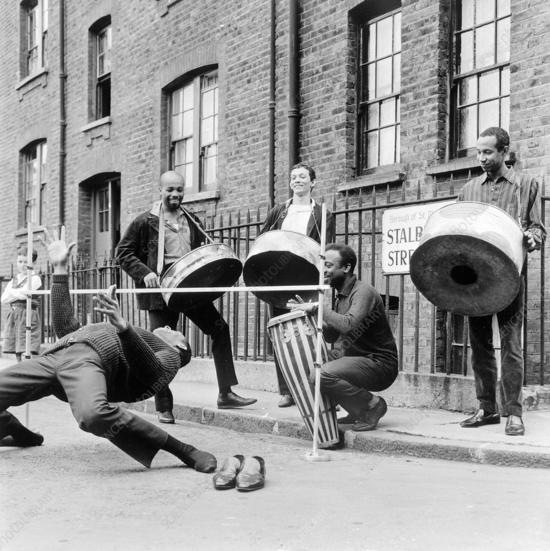 The Irwin Clement Caribbean steel band, London, 1963