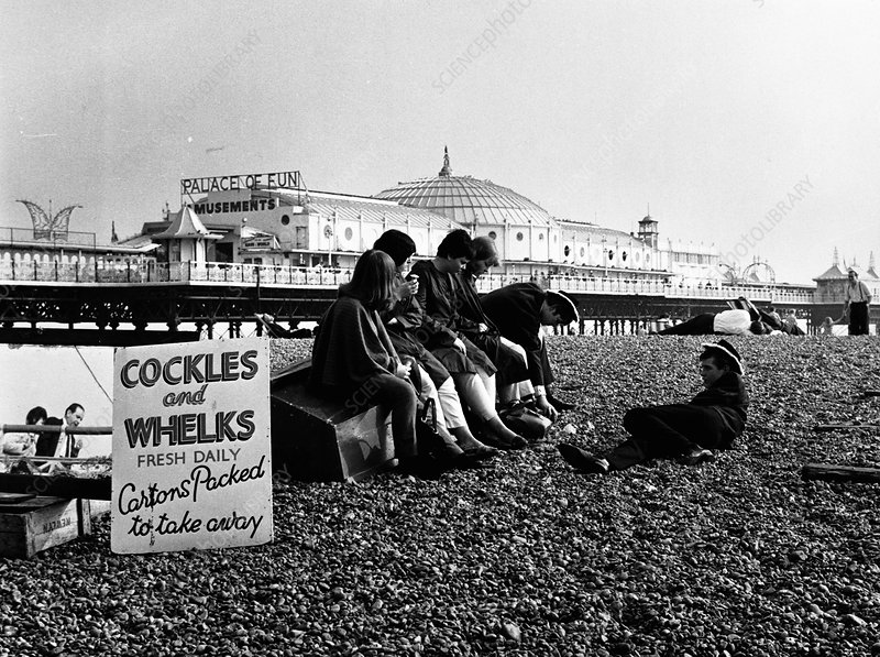 Brighton Beach, East Sussex, mid 1960s