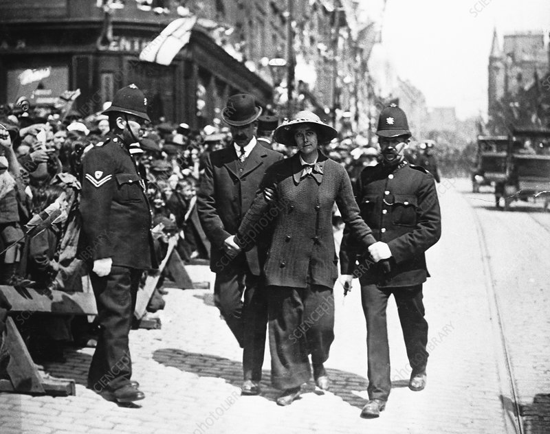 The arrest of Olive Waltor in Dundee, c1914