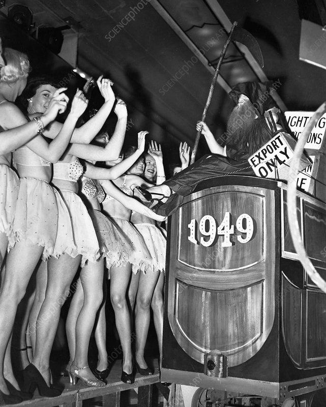 New Year's Eve, Trocadero Restaurant, London, 1949