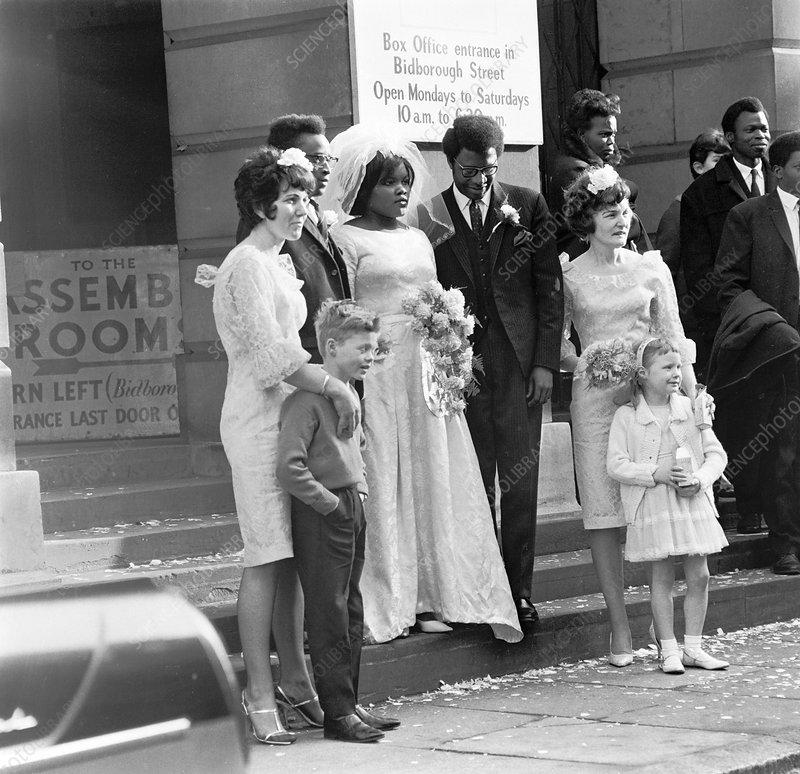 Wedding party, Camden, London, 1969