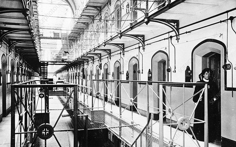 Interior of Holloway Prison, London