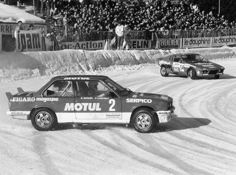 A BMW 325IX during the Chamonix Ice Race, France, 1989