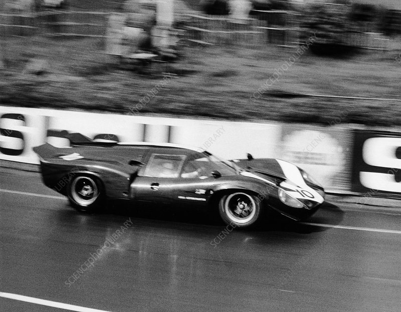 An Aston Martin Lola at Le Mans, France, 1967