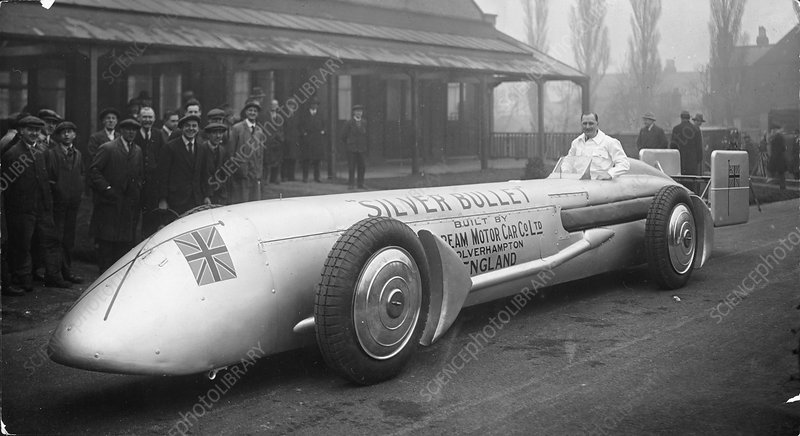 Kaye Don with the Sunbeam Silver Bullet, 1930