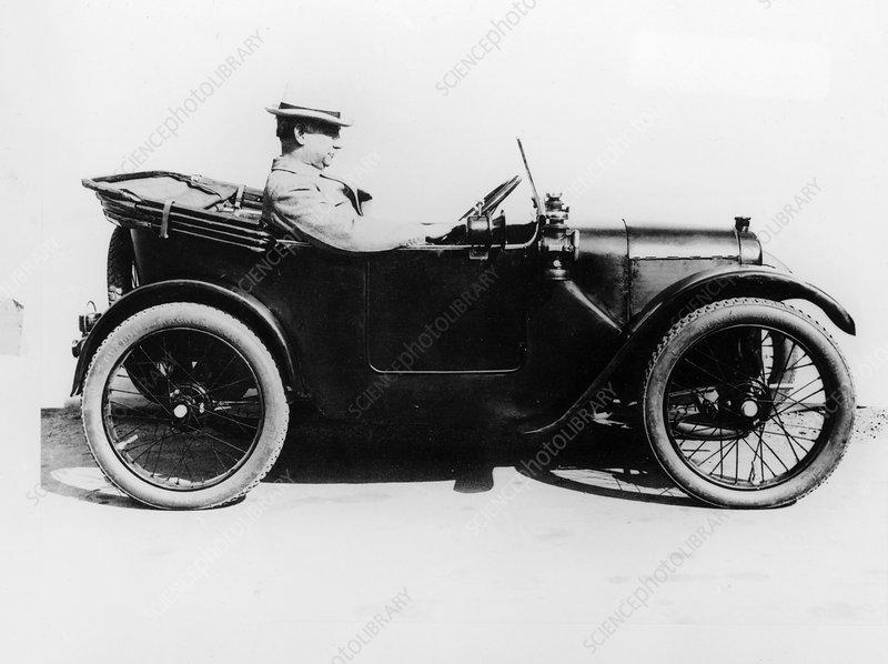 Sir Herbert Austin in an Austin Seven, 1922