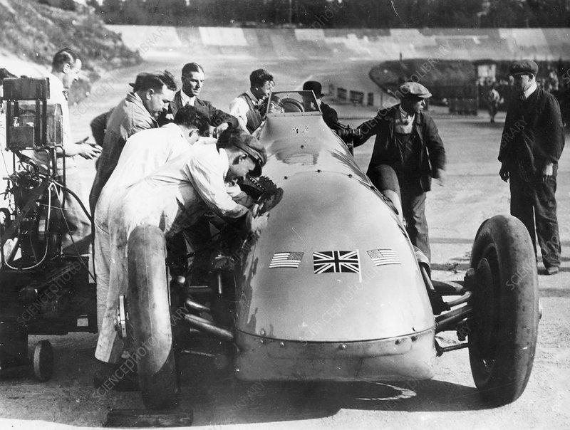 Bluebird at Brooklands, Surrey,1928