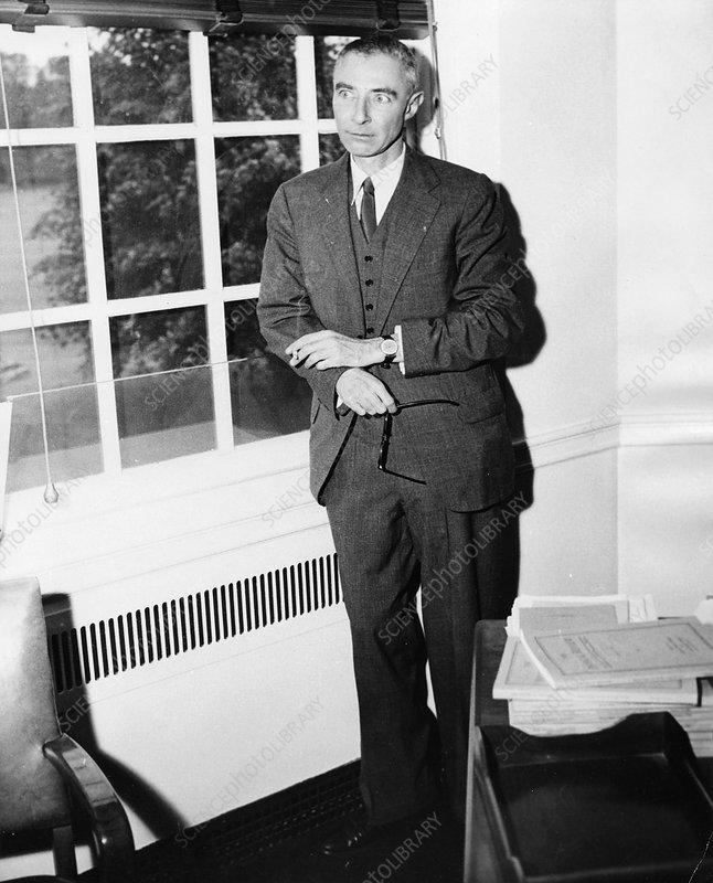 J Robert Oppenheimer American Physicist Stock Image
