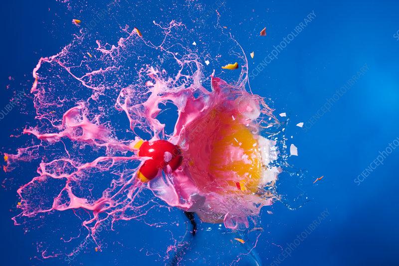 Paintball Hitting an Egg
